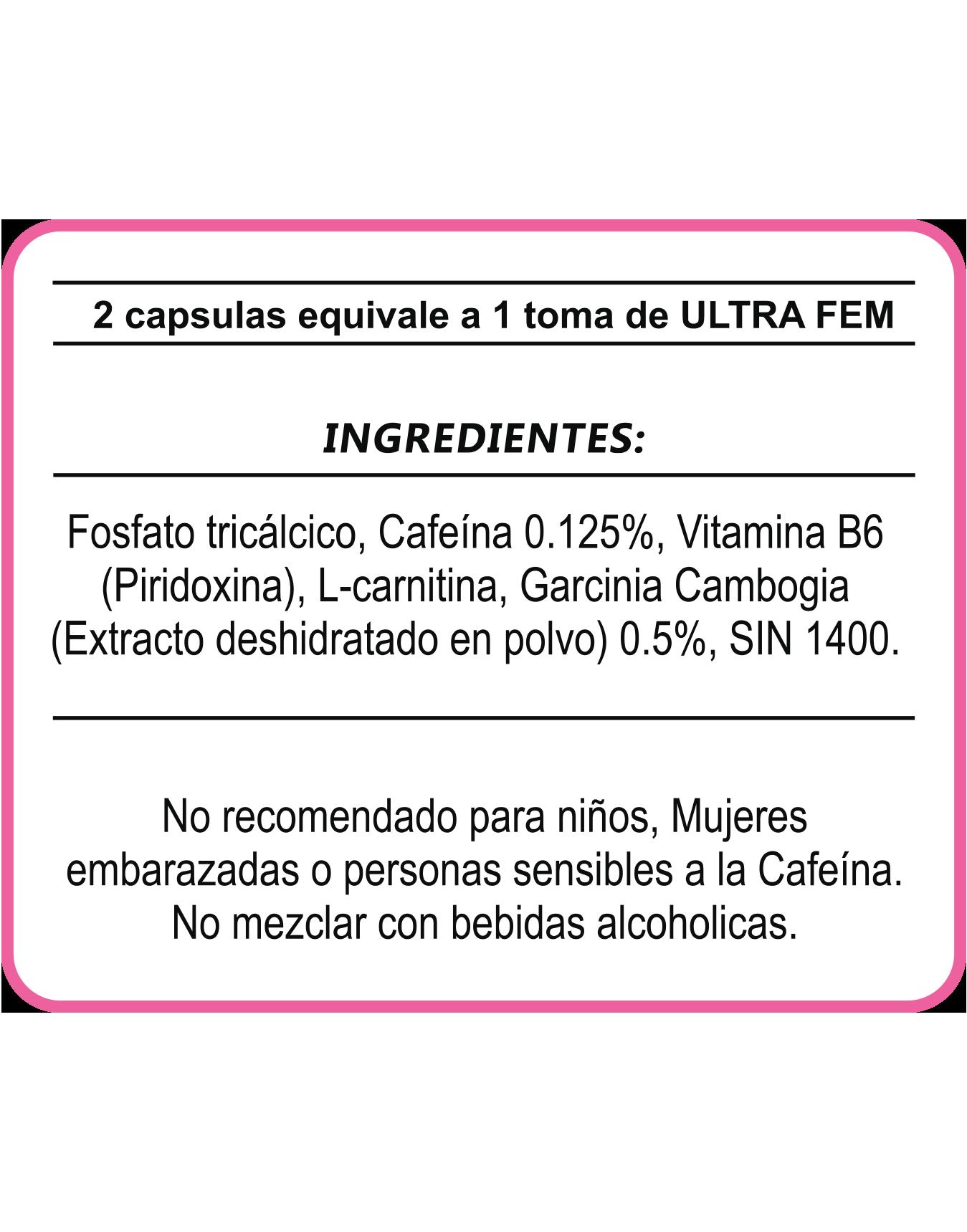 Tabla Nutricional ULTRA FEM